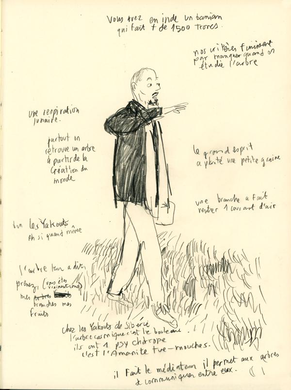 Conférence de José Le PiezDessin de Benoit Guillaume