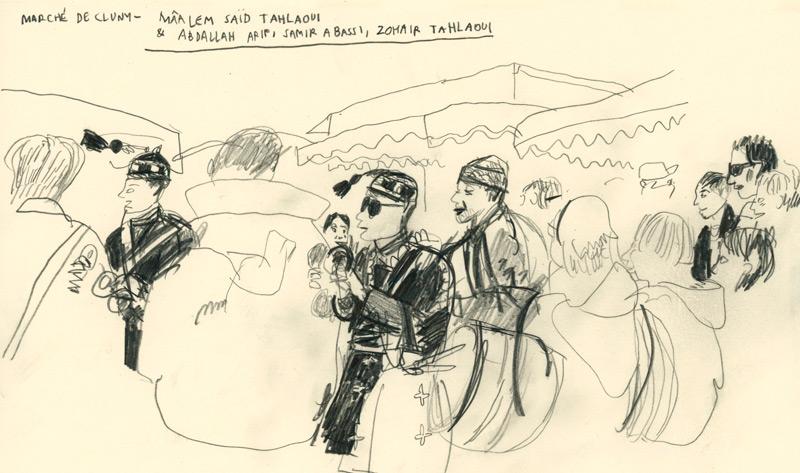 Le Maâlem Saïd au marché de Cluny